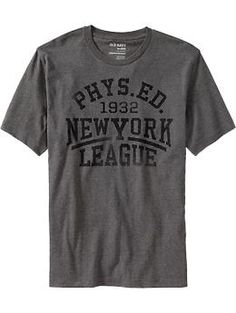 Men's vintage-style athletics tee. $9.50 from Old Navy.