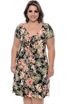 Vestido Plus Size Rosalinda Chic Dress, Flare Dress, Modest Summer Fashion, Casual Dresses, Fashion Dresses, Island Outfit, Plus Size Summer Dresses, Vestidos Plus Size, Batik Dress