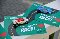 matchbox car valentines with FREE printable.