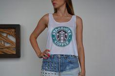 Crop Top Starbucks
