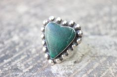 HEART Ring / Malachite and Sterling Jewelry / by SouthwestVintage, $35.50