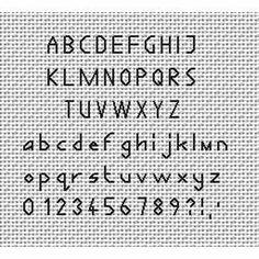 alphabet back stitch patterns Tiny Cross Stitch, Cross Stitch Kits, Cross Stitch Charts, Cross Stitch Designs, Cross Stitch Numbers, Cross Stitch Letters, Cross Stitch Font, Cross Stitching, Cross Stitch Embroidery