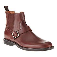 """Johnston & Murphy Men's """"Cardell"""" Buckle Strap Boots in Oak"""