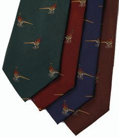 Silk Pheasant Print Tie