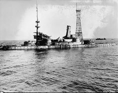 USS Indiana a Pre-Dreadnought Battleship of the US Navy as Coastal Battleship number After being bombed in trials of aerial bombing on ships. Us Navy, Royal Navy, Uss Indiana, Shallow Water Boats, Uss Texas, Us Battleships, The Spanish American War, Gun Turret, Ship Of The Line