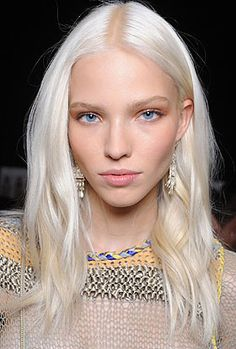 White hair - 1 in million to pull it off
