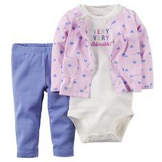 Baby Girl Carter's Little Lilac Mix & Match Coordinate