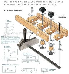 #3176 Miter Gauge Clamping Jig - Table Saw