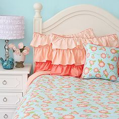 Add a splash of fresh, colorful flowers to your bedroom when you dress up your bed with a gorgeous Caden Lane Coral Floral Duvet Cover. Adorning your bed with this charming duvet will be a stunning addition to any room.