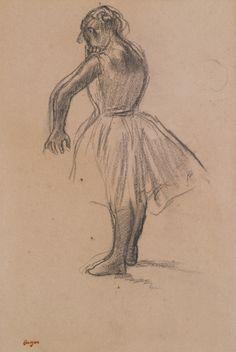 "artexpert: ""Danseuse debout (1880) - Edgar Degas """