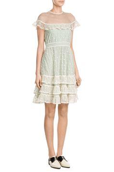 Dress with Polka-Dot Tulle - R.E.D Valentino | WOMEN | GB STYLEBOP.COM