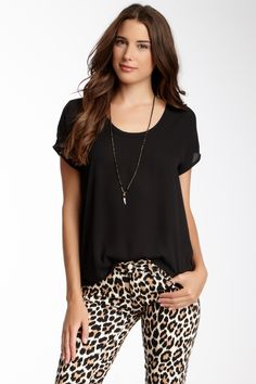 Panther print and casual shirt