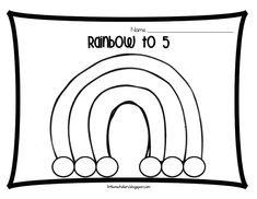 The Littlest Scholars: Ways to Make 5 Rainbow [Freebie! Preschool Math, Math Classroom, Kindergarten Math, Teaching Math, Math Activities, Math Games, Math For Kids, Fun Math, Math Math