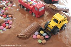 Kerstins kreative Küche: Baustellenkuchen Party Mottos, Food And Drink, Toys, Birthday Cakes, Baby, Birthday, Digger Cake, Food For Kids, Food And Drinks