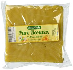 Stakich 1 lb Pure Yellow BEESWAX Block - Craft Grade, Top Quality - ** Details can be found by clicking on the image.