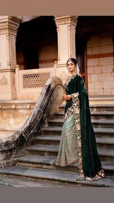 Shyamal and bhumika Bridal Sari, Wedding Saree Blouse, Beautiful Saree, Beautiful Dresses, Velvet Saree, Marathi Bride, Shyamal And Bhumika, South Indian Sarees, Stylish Sarees
