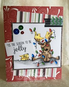 Stamping Bella Rudolph, Christmas Lights and Chicks rubber stamp. Click through to read the blog post, and see more peeks and inspiration from the new release. Release Date 3rd Sept 2016.