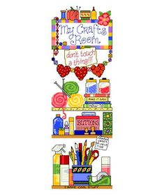 My Crafts Room - cross stitch pattern designed by Ursula Michael. Category: Sayings.