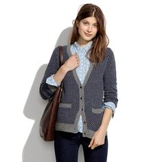 love a @Madewell cardigan for chilly temps! more on fivetonineblog.com
