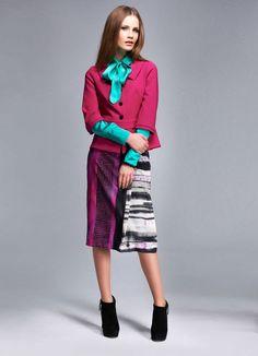 91bcbf47af2 Elegance Paris Graphic Print Skirt Ladies UK Size 14 rrp 180 Box30 16 L   fashion