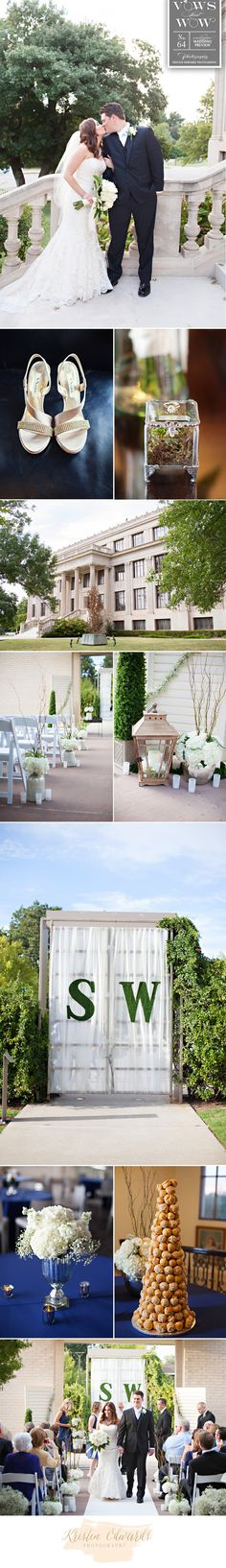 Romantic modern wedding at Gaylord-Pickens Oklahoma Heritage Museum. Photos by…