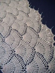 Venus Tunisian crochet cashmere 005 shawl
