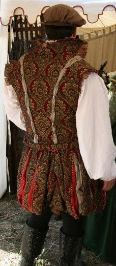Renaissance Man's Doublet and Paned Slops MADE of the same fabric i have.