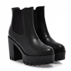 "<p><img src=""//cdn.shopify.com/s/files/1/0357/4985/files/free-shipping-xxl_e9c98c1f-5ada-4638-81fb-db2b4fa34601_icon.png?1668932327708657775"" /></p>Grunge Chunky Heel Vegan Leather Boots"