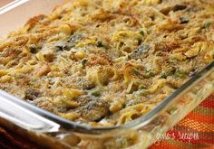 Skinny Tuna Noodle Casserole - Panko would be great for added crunch.