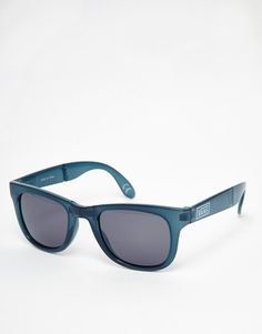 Sunglasses by Vans Foldable angular frames Moulded nose pads for added comfort Dark tinted lenses Branded arms with curved temple tips for a secure fit Total UV protection