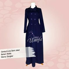 Gamis dongker polos