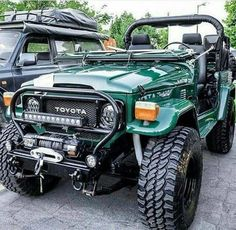 Hartop hijau Toyota Fj40, Toyota Fj Cruiser, Toyota Trucks, 4x4 Trucks, Ford Trucks, Toyota Tacoma, Jeep Suv, Jeep Cars, Jeep Truck