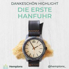 Die erste Hanfuhr der Welt ⌚️ Hergestellt in Handarbeit aus recycelten Hanftextilien mit Armband aus Fahrradschlauch. Die leichte Uhr ist sehr alltagstauglich und spritzwasserfest.  Sichere dir die limitierte Uhr beim Hempions Crowdfunding um bis zu 100€ günstiger . #hanfuhr #hempwatch #crowdfunding Hanfu, Bracelet Watch, Leather, Blog, Accessories, Hemp Fabric, Hemp Seeds, Clock, World