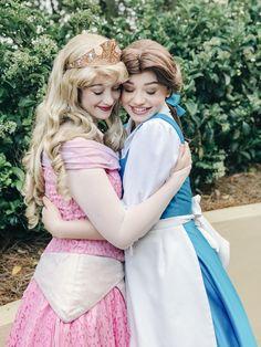 Princess Aurora at Walt Disney World, Face Character. Sleeping Beauty. Belle. Beauty and the Beast.