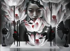 Mu Lei (Chinese, b. Title: Convection, 2010 Medium: Paintings, Oil on canvas Size: 160 x 220 cm. Inspirational Artwork, Chinese Contemporary Art, Modern Art, Illustrations, Illustration Art, Asian Sculptures, Chinese Artwork, Artwork Images, Asian Art