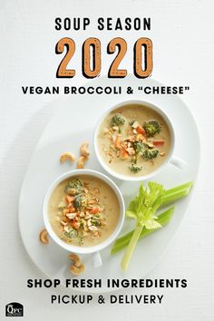 "Curl up with a warm cup of ""cheesy"" broccoli soup made with some of the best vegan alternatives. A fresh, affordable soup choice everyone will crave. Cheesy Broccoli Soup, Broccoli Soup Recipes, Broccoli And Cheese, Vegetarian Recipes, Cooking Recipes, Healthy Recipes, Healthy Meals, Raw Recipes, Vegetarian Options"