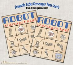 bnute productions: Robot Party: Game Ideas and Free Printable Scavenger Hunt