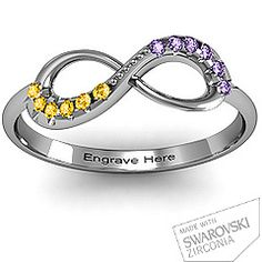 Infinity Accent Ring. so cute.