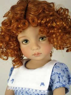Custom, hand-painted doll sculpted by Dianna Effner and painted by Lana Dobbs.