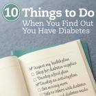 10 Things to Do When You Find Out You Have Diabetes | Diabetic Living Online