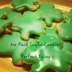 No Fail Sugar Cookies with perfect icing. The only cut out cookie recipe you will ever need!