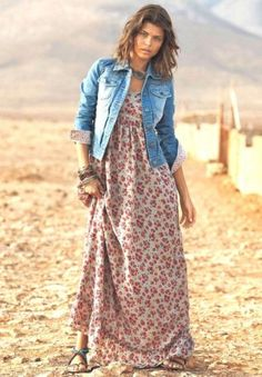 small floral maxi dress- Ways to style your summer maxi dress http://www.justtrendygirls.com/ways-to-style-your-summer-maxi-dress/