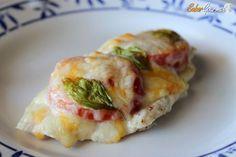 Pechuga de pollo al horno con tomate y queso