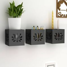 Home Sparkle Set Of 3 Hanging Tea Light Cum Organizer Wooden Wall Shelf Price in India - Buy Home Sparkle Set Of 3 Hanging Tea Light Cum Organizer Wooden Wall Shelf online at Flipkart.com