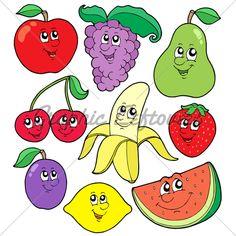 Cartoon fruits collection 1
