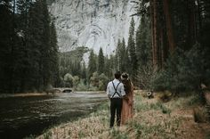 For the adventurous couple: a simple, intimate elopement in the woods of Yosemite.