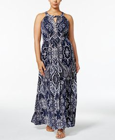 INC International Concepts Plus Size Beaded Maxi Dress, Only at Macy's   macys.com
