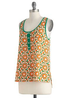 Mosaic to My Ears Top | Mod Retro Vintage Short Sleeve Shirts | ModCloth.com