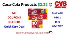 Coca-Cola Products $2.22 per 12-Pack @ CVS ~ No Coupon Needed. Quick Easy Deal for cheap soda and to get started with EBs for future deals.  Click the link below to get all of the details ► http://www.thecouponingcouple.com/coca-cola-products-2-17-per-12-pack-cvs-no-coupon-needed/ #Coupons #Couponing #CouponCommunity  Visit us at http://www.thecouponingcouple.com for more great posts!