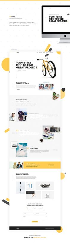 Bold - Creative & Minimal One Page Website on Behance